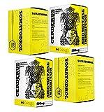 SOMATODROL + CERBERUS | Booster di Testosterone | Crescita Della Massa Muscolare Magra | Bruciagrassi | Integratori Alimentari Per Uomo | Inibitore Dell'aromatasi | (2 x SOMATODROL + 2 x CERBERUS)