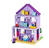 BIG Spielwarenfabrik 800057153 Big-BLOXX Construction Toys Peppa Pig Grandparents House PLAYSET with 86 PCS, Multi