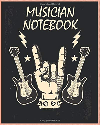 Musician Notebook: 120 pages for Music Students, Writing your own Notes, Repertoire, Studies Exercises, Scales and Warmups (Awesome music journal)