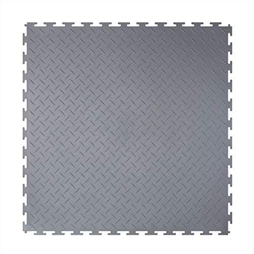 Garagenboden fliesen pvc bodenfliesen industrie bodenfliesen klick 50x50x0.45cm (Garagenboden pvc - graue - 1m2(4 Stück))
