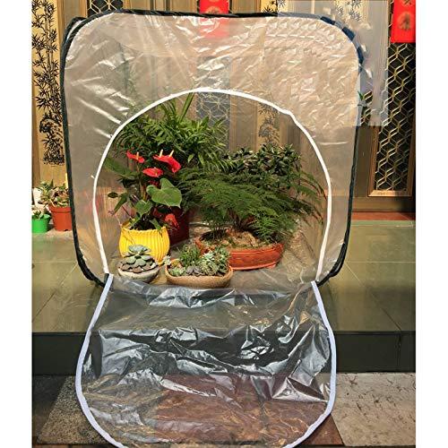 Serre De Jardin,Miniature Des Légumes Fleurs Couverture De Serre Étanche À La Poussière Imperméable Avec Fermeture Éclair Pliable (Color : Clear-1pcs, Size : 100x100x100cm)