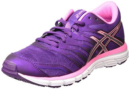 ASICS - Gel-Zaraca 4, Zapatillas de Running Mujer, Morado (Purple/Silver/Flamingo 3393), 35.5 EU
