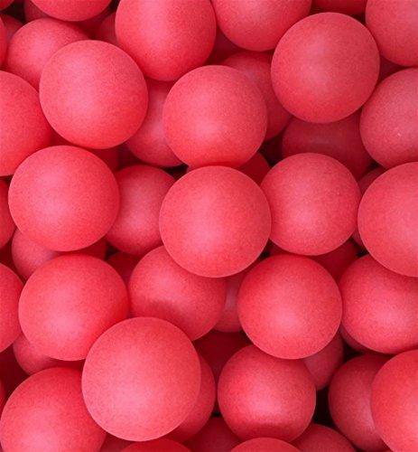 ARARAGI イベント用 卓球 ボール カラー ピンポン 玉 40�o シームレス 球 ロゴ無し PP材 (レッド:100個セット)