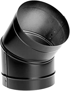 M & G Duravent 10DBK-E45 10 Inch Dura-black 24-ga Welded Black Stovepipe, 45 Deg Sectioned, Nonadjustable Elbow