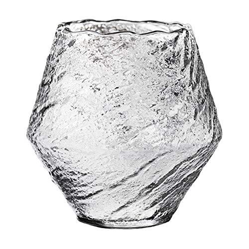 Lanceasy Japanisches handgemachtes gehämmertes Whiskyglas Hitzebeständiges Saftbecher-Schnaps-Whiskykristall-Weinglas