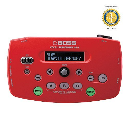 BOSS VE-5 Vocal Performer Effetti Processore Red