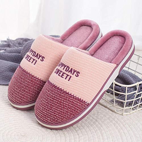 Zapatillas Casa Hombre Mujer Invierno Nuevas Zapatillas Bonitas De Interior para El Hogar Paramujer Y Hombre,Zapatos De Felpa Suaves Y Cálidos, Toboganes De Interior Antideslizantes, Calzado para