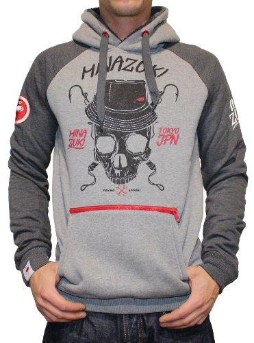MINAZUKI, Herren Sweat-Shirt, Hooks, Grey, MZ-SW-001, GR XL