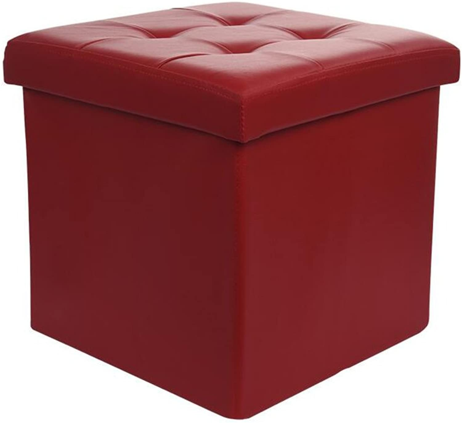 Sun Sofa Stool Storage Box Storage Stool Multifunction shoes Stool Fitting Room Bearing 200kg,55L (color   RED)