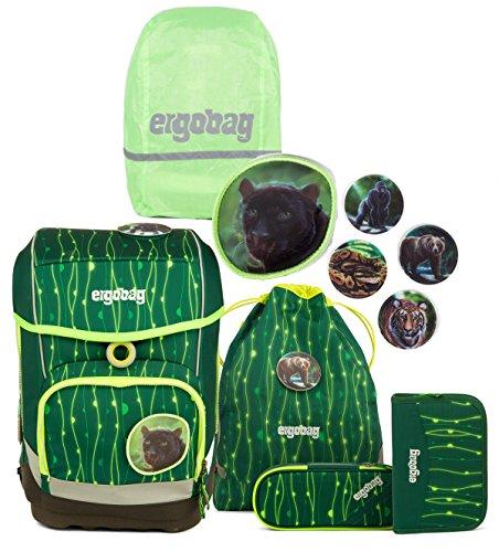 Unbekannt ergobag Cubo Schulranzen Set inkl. Regencape RambazamBär + Shiny Green
