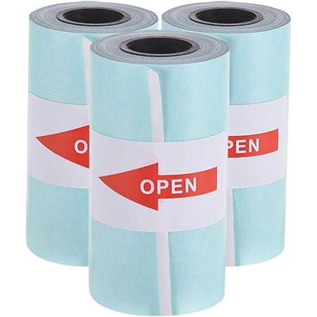Aibecy Thermopapier Aufkleberpapier Selbstklebendes Papierrolle 57 30 Mm Für Peripage A6 Paperang P1 P2 Poooli L1 Mini Fotodrucker 3 Rollen Bürobedarf Schreibwaren