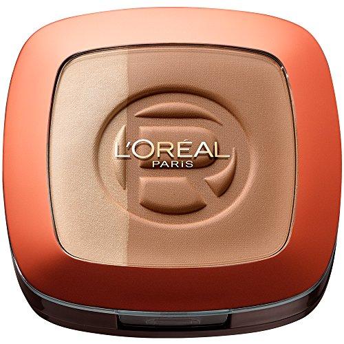 L\'Oréal Paris Make Up Glam Bronze Duo Sun Powder, 102 Brunette Harmony - 2 in 1 Bronzepuder für den Sommer-gebräunten Look - für dunkle Hauttypen, 1er Pack (1 x 11g)