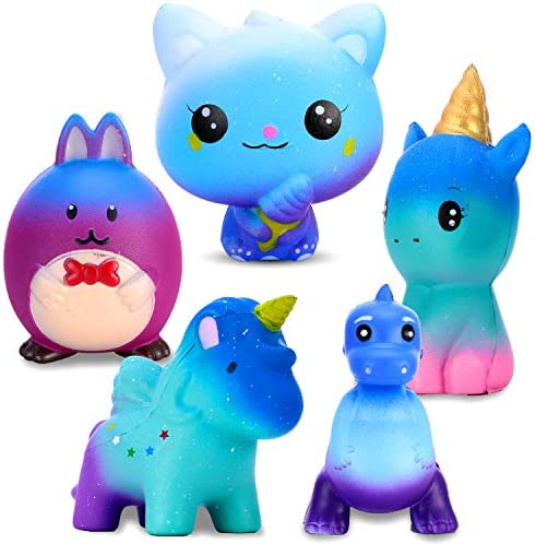 DIY Squishies Large 4 Pcs Developing Ideas Hands-on Ability, Slow Rising Kawaii Toy with Light Cream fragranc,Creamy Scented Soft Squeeze Novelty Pressure Sensory Toys