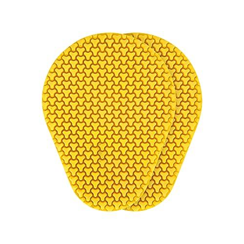 Oxford OB130 Dynamische Motorrad-Protektoreinsätze für Schulter/Ellenbogen/Knie/Hüftprotektor, gelb, 162mm X 212mm