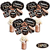 Retirement Party Centerpieces Women Rose Gold Happy Retirement Party Centerpieces Sticks Glitter Table Toppers Decorations Party Photo Booth Props Set of 24