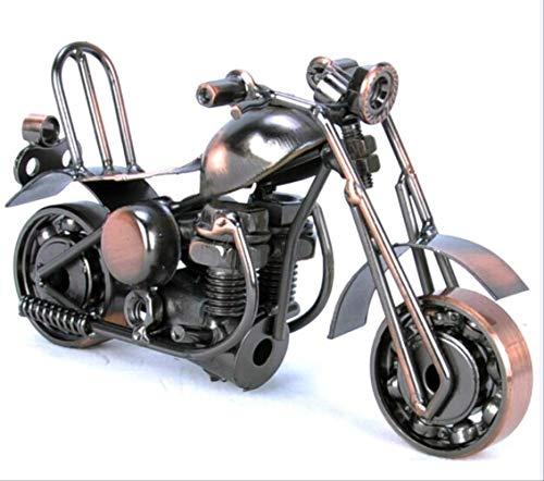 NOBRAND Motocicleta de la Vendimia Modelo Retro Figurita Hierro Moto Artesanías Niño Regalo Niños Juguete Decoración de la Oficina en el hogar Bn