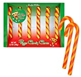 Archie Mcphee Pizza Candy Canes 3.8 Oz! Six Pizza-Flavored Candy Canes! Red And Yellow Stripes Colorful Sweets! Tastes Like A Slice Of Pizza! Choose Your Flavor! (Pizza)