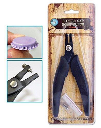 Bottle Cap Co. Metal Hole Punch 1.8mm Rubber Handles