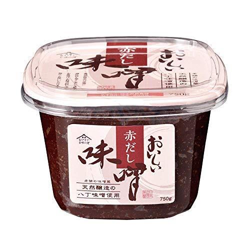 日本自然発酵 おいしい赤だし味噌 750g 1カップ | まろやか 料理 旨味たっぷり 風味豊か 上品 万能調味料 本格的 料亭の味 国産