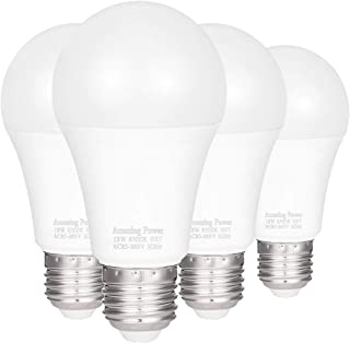 100W Equivalent E26 E27 LED Bulbs A19, AMAZING POWER Daylight White Non-Dimmable Medium Screw Base Light Bulbs 6500K, 4-Pack