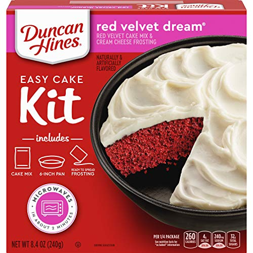 Duncan Hines Easy Cake Kit Red Velvet Dream Cake Mix, 8.4 OZ