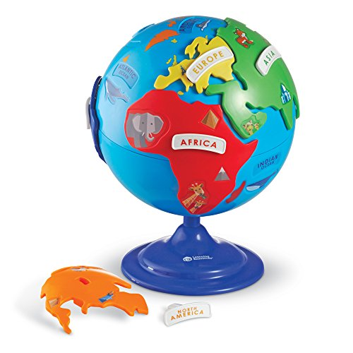 Learning Resources Puzzle Globe, 3-D Geography Puzzle, Fine...