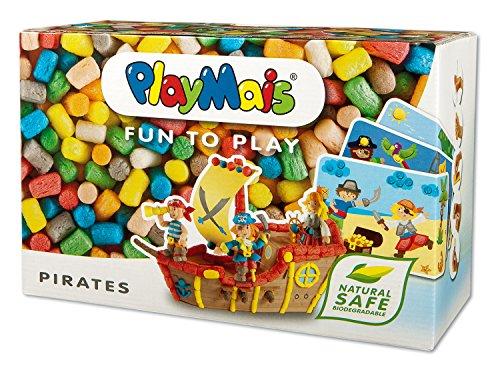 PlayMais FUN TO PLAY Pirates Bastel-Set für Kinder ab 3 Jahren   Motorik-Spielzeug mit 550 Stück, 14 Vorlagen & Anleitung für Piraten & Co   Natürliches Spielzeug   Fördert Kreativität & Feinmotorik