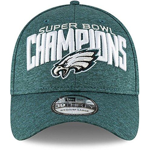 d6eb9d438bbec Philadelphia Eagles New Era Super Bowl LII Champions Midnight Green Shadow  Tech 39THIRTY 3930 Flex Fit