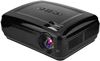 Video Projector, Black 16.7K 1080P HD Movie Projector for Home Theater for Outdoor(British regulatory)