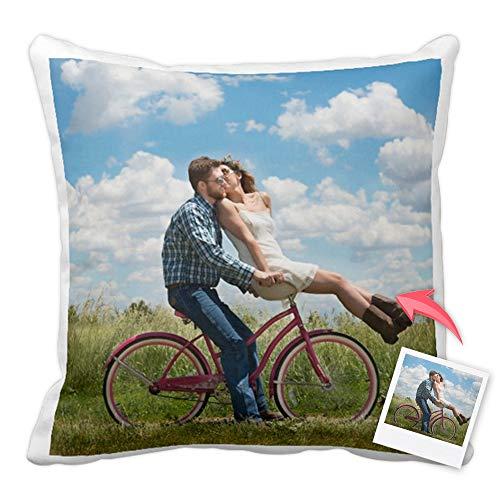 Cojines Personalizados con Fotos y Texto | Tejido Tacto algodón | Relleno Incluido | Tamaño 40x40 cm