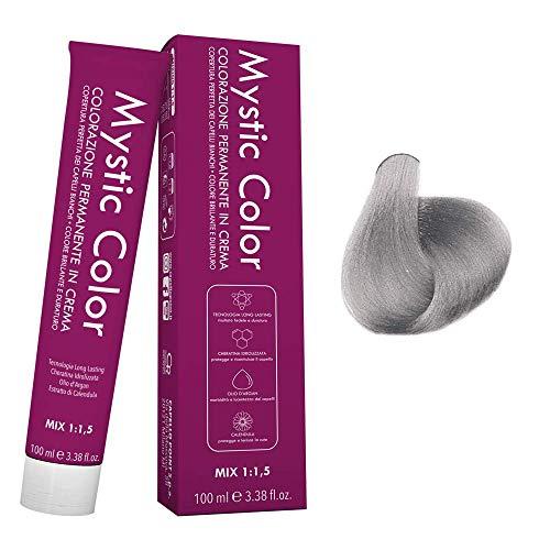 Mystic Color - Correttore Cenere - Tinta per Capelli - Colorazione Professionale Permanente in Crema - Con Cheratina Idrolizzata, Olio di Argan e Calendula - 100 ml