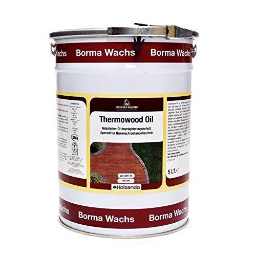 Borma Wachs 5 Liter Thermowood Natur Thermoholz Öl Holzöl (Natur - 08)
