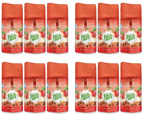 12x Fresh & More Rote Apfel & Zimt Passend Für Automatische Duftspender - 250ml