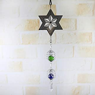 WRQZG Metal Spinner Spinner Wind Chime con Spiral Tail Ball Center Home Decor Gift