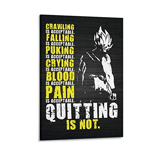 disike Kunstdruck auf Leinwand, Motiv: Quitting Is Not Acceptable (90 x 60 cm)