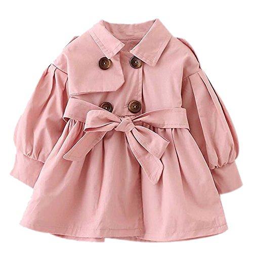 Brightup Ragazzi ragazze giacca a vento autunno e primavera giacca cachi/rosso/colore rosa cappotto per 2-5 anni bambina outwear Trench Jacket cappotto
