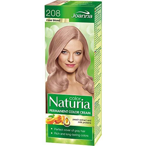 Naturia Permanent Haarfärbe-Creme – All das Gute aus Milchproteinen & Pfirsichextrakt – Haarfarbe in Premium-Qualität – Für Weiches und Glänzendes Haar – Lange Haltende Haarfarbe – Farbton Rose Blond