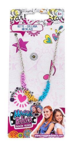 Joy Toy 66919 figuren & Charactere Maggie & Bianca ketting in metaal met hartvormige hanger en kleurrijke Music-Style Fashion opschrift op backercard 7,5 x 0,5 x 18 cm, girls