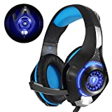 Beexcellent  GM-1 Casque Gaming PS4, Casque Gamer avec Micro Premium Anti Bruit Audio...
