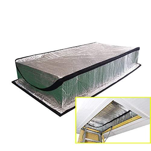 LJIANW Abdeckplane Dachbodentür Isolationsabdeckung Im Winter Warm Im Sommer Kühl Leiteröffnung Dachzelt Mit Reißverschluss, Wasserdicht Aluminiumfolie