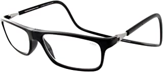 clic expandable reading glasses black