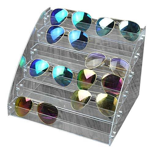 Heaveant Organizador de Gafas de Sol, Caja de Almacenamiento de Gafas de Sol Organizador de Gafas de Sol de acrílico Vitrina de múltiples Capas Caja de Almacenamiento de Gafas de Mesa(6 Layers)
