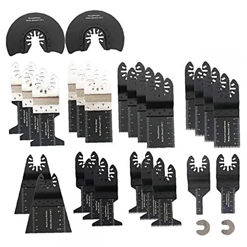 28PCS oscilante multiherramienta de sierra de metal apto para Bosch Makita DeWalt Dremel y más Accesorios para herramientas