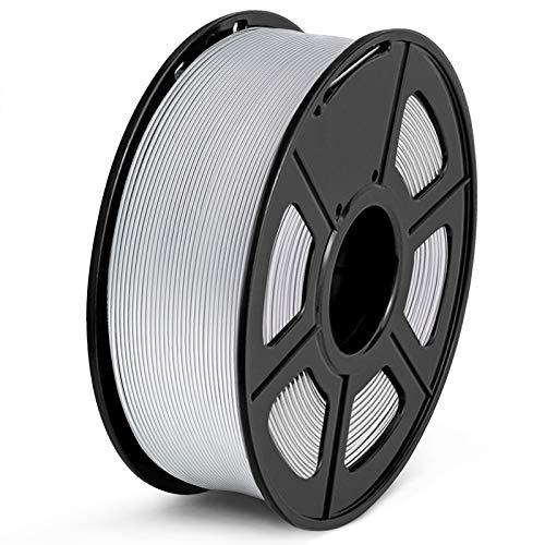 Filamento PLA 1.75mm, SUNLU PLA Filamento de Impresora 3D, Precisión Dimensional +/- 0.02 mm, 1kg Spool, PLA Plata