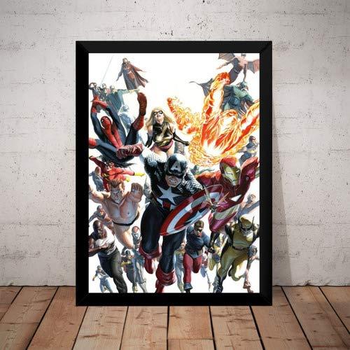 Quadro Vingadores Marvel Hq Arte De Alex Ross