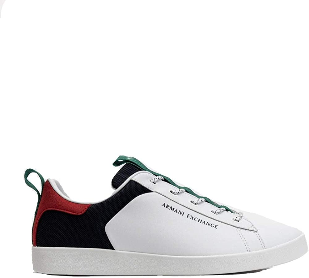 Armani exchange, berlin casual low top, scarpe da ginnastica per uomo,in pelle XUX096
