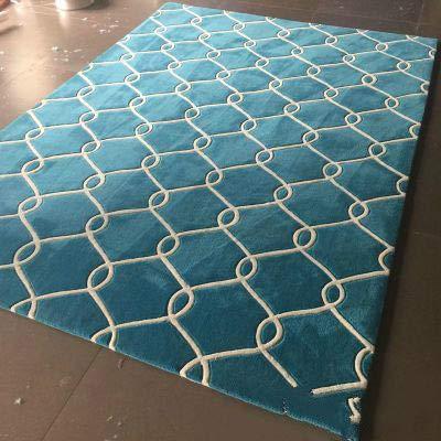 kailehi Wolle handgemachte Software zu Hause 140 * 200cm 006,Home Indoor/Outdoor recyceltem Kunststoff Bodenmatte/Teppich - reversibel - Wetter und UV-beständig
