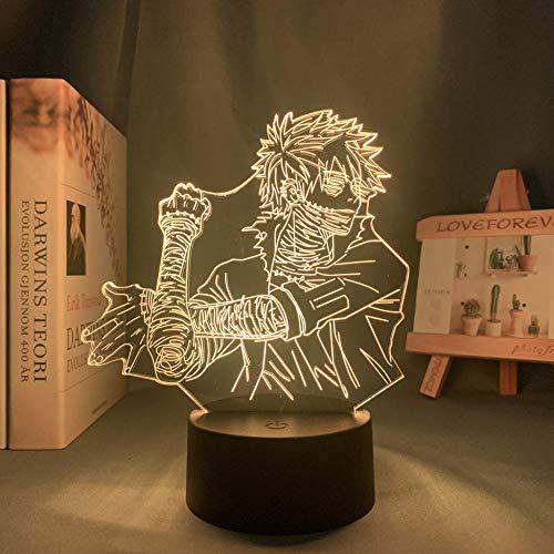 Lámpara de noche 3D Anime ilusión lámpara Anime Mi héroe Akademie Dabi lámpara para dormitorio decoración de cumpleaños Toya Todoroki LED luz nocturna ZMSY
