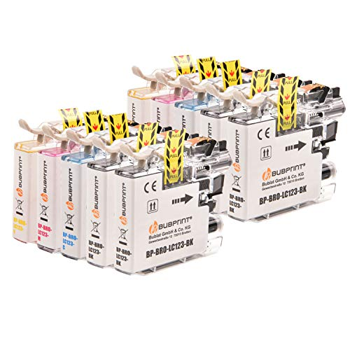Bubprint Kompatibel Druckerpatronen als Ersatz für Brother LC-123 für DCP-J132 DCP-J152 W DCP-J4110 DCP-J552 DCP-J752 DW MFC-J245 MFC-J4410 MFC-J4510 MFC-J470 MFC-J6520 MFC-J6720 MFC-J870 DW 10er-Pack