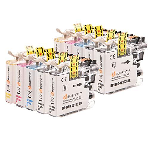 Bubprint 10 cartuchos de tinta compatibles con Brother LC-123 para DCP-J132W DCP-J152W DCP-J4110DW DCP-J552DW DCP-J752DW MFC-J245 MFC-J4410DW MFC-J4510DW MFC-J470DW MFC-J6520DW MFC-J6720DW MFC-J870DW